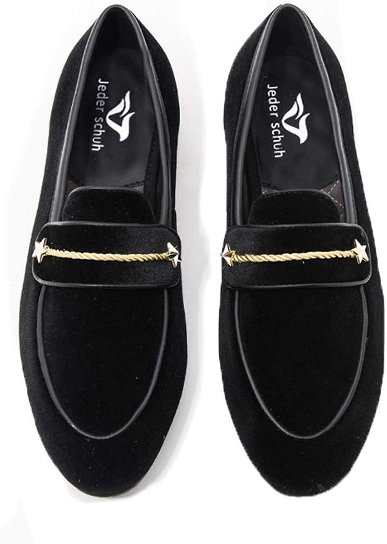 Jeder schuh Autumn Style Luxurious Men Velvet shoes Pearl Metal Buckle Fashipn Party Wedding Men Loafers