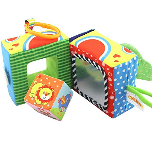 Find Bargain He-lanshangmaobu Kids Colorful Animal Activity Cloth Book Baby Early Educational Toys S...