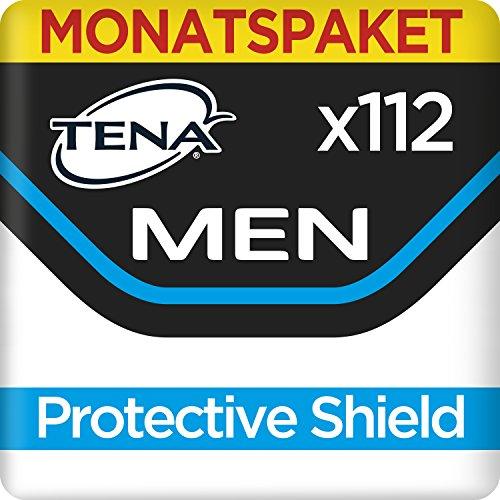 Tena Men Protective Shield Level 0, Monats-Paket mit 112 Einlagen, (8 Packungen je 14 Einlagen)