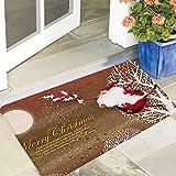 Naduew - Felpudo de Navidad (50 x 80 cm), diseño de enanos de Navidad antideslizante, ideal para dormitorio, pasillo, sala de estar y cocina.