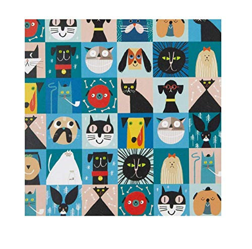 U Studio Collection Geschenkpapier für Katzen und Hunde, 1 Bogen