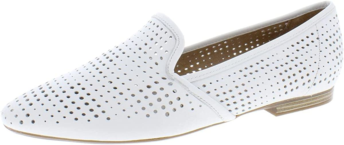 Naturalizer Womens Caleigh2 Leather Casual Loafers White 8 Medium (B,M)