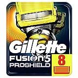 Gillette Fusion 5 ProShield Cuchillas de Afeitar Hombre, Paquete de 8 Cuchillas de Recambio