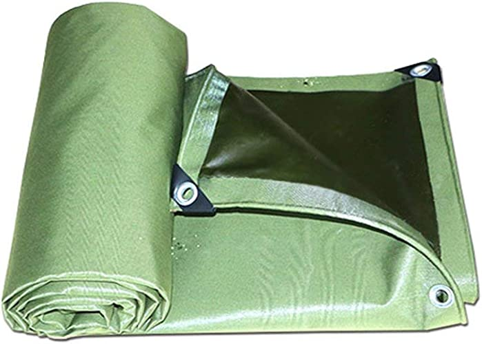 Yetta Couvertures imperméables de Feuille de Sol de bache de Toile pour Le Camping, la pêche, Jardinage 700g   m2 épaisseur 0.75mm, Multi-Taille Optiona (Taille   3  4m)