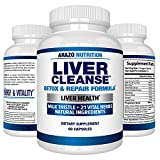 Liver Cleanse Detox & Repair Formula – 22 Herbs Support Supplement:...