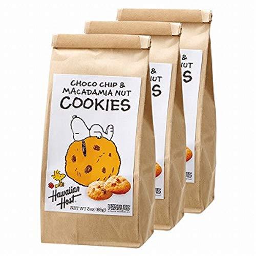 ハワイアンホースト (Hawaiian Host) スヌーピー マカデミアナッツ チョコチップクッキー 3袋セット【アメリカ おみやげ(お土産) 輸入食品 スイーツ】