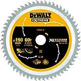 Dewalt DT99564-QZ DT99564-QZ-Hojas para Sierra Circular portátil XR Extreme RUNTIME 190mm x 30mm 60D 25º, 0 W, 0 V, Negro/Amarillo, 190/30mm 60WZ/FZ