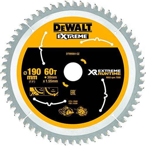 Dewalt XR Extreme Runtime Kreissaegeblatt Handkreissäge, 1 Stück, 190/30 mm 60 WZ/FZ, DT99564-QZ