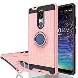Wtiaw:Coolpad Legacy Case,Coolpad Alchemy Case,Coolpad 3705A Case,360 Degree Rotating Ring Kickstand [TPU+PC Material] Hybrid Dual Layer Defender Phone Cases for Coolpad Legacy-CH Rose Gold