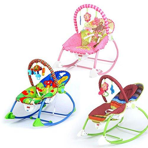 BEST FOR KIDS - L68105 Siège basculant à bascule 2 en 1 de luxe avec fonction de musique