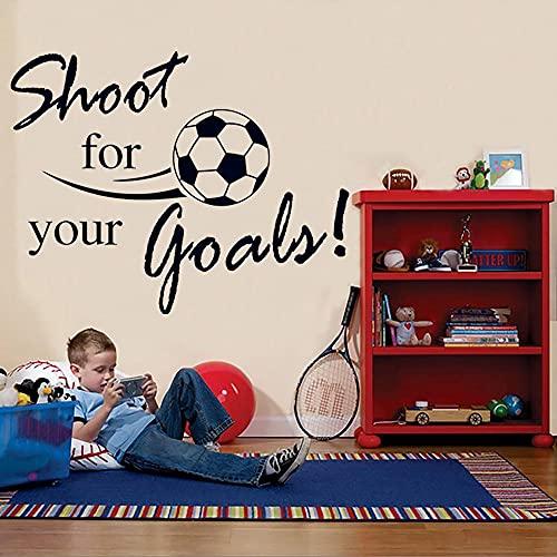 Zdklfm69 Pegatinas de Pared Adhesivos Pared Fútbol Volador Letras inglesas calcomanías para el hogar Pegatinas para habitación de niños decoración Mural para Sala de Estar 90x120cm
