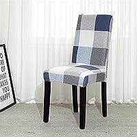 FLYAND 椅子カバーグレーストレッチリムーバブル洗える洗える洗濯椅子スリップケーズハイバックチェア保護カバースリップカバーウェディングバンケットパーティーデコレーション (サイズ : 6 PCS)