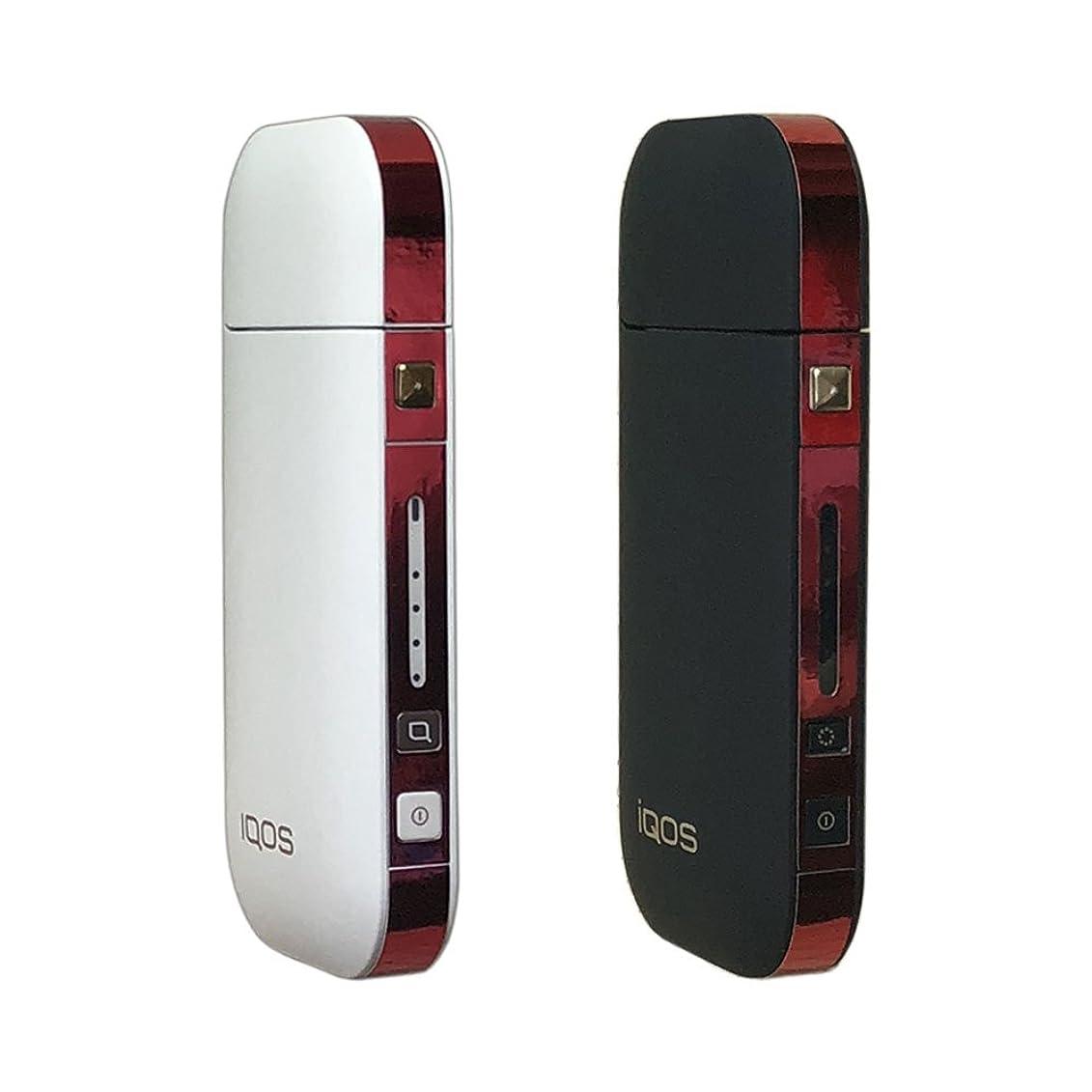 ストロークシーサイドを必要としていますアイコス デコレーション シール 新型対応!! 側面タイプ Ange Japan for iQOS AJ-04007 クロムメッキレッド