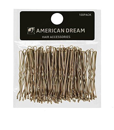 American Dream Haarnadeln, gewellt, 3,8 cm, blond, 100 Stück