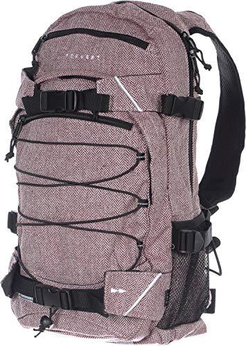 Forvert New Louis Rucksack Backpack Flannel Burgundy red