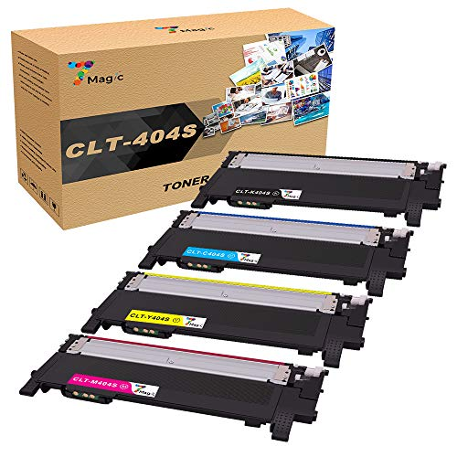 7Magic compatibele tonercartridge vervanging voor Samsung CLT-K404S CLT-C404S CLT-M404S CLT-Y404S Xpress C430W C430FW C480FW SL-C430W SL-C480W SL-C480FN (Zwart, Cyaan, Geel, Magenta, 4-Pack) Samsung 404S 404 Toner 1 Black, 1 Cyan, 1 Yellow, 1 Magenta