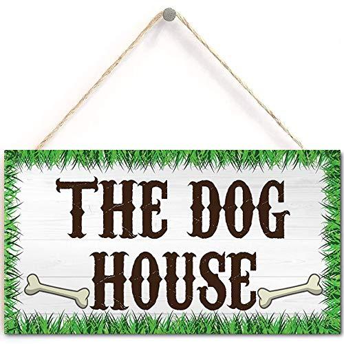 Lalagofe Speak Friend and Enter Wooden Hanging Man Cave Gift Plaque Dad Pub Bar Sign The Dog House Novelty Hanging Plaque Garden Shed Gate Sign Kennel Bed Man Cave Plaque