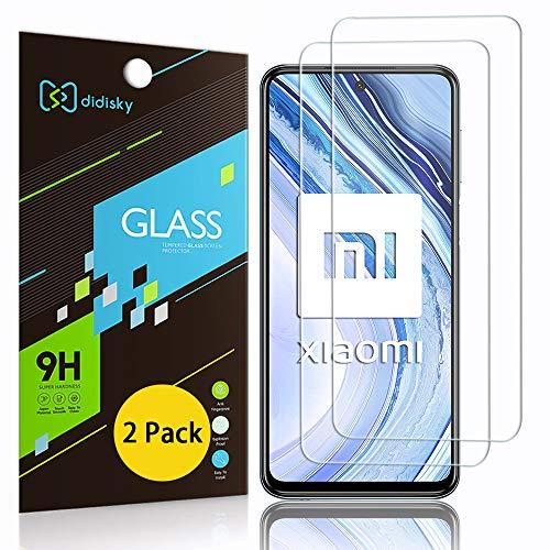 Didisky Pellicola Protettiva in Vetro Temperato per Xiaomi Redmi Note 9s / Note 9 PRO/Note 9 PRO Max, [2 Pezzi] Protezione Schermo [Tocco Morbido ] Facile da Pulire, Facile da installare, Trasparente