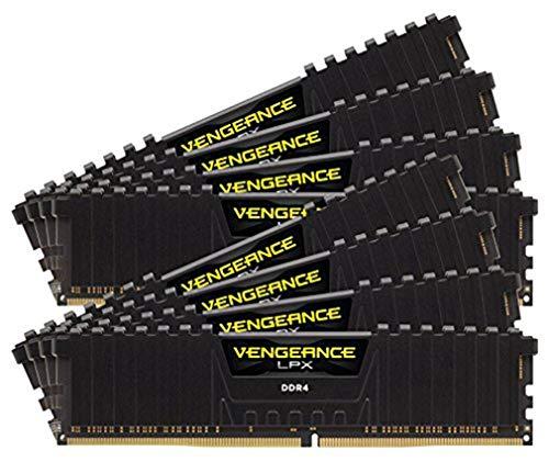 Corsair CMK128GX4M8B3000C16 Memory D4 3000 C15 Ven K8 VengLPX Arbeitsspeicher mit Lüfter (128GB, 1,4V)