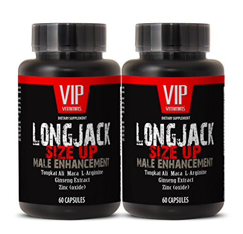 Increase Size and Length - LONGJACK Size UP (Male Enhancement Formula) - Tongkat ali - 2 Bottles 120 Capsules