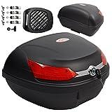 Baúl de moto universal 48 LT A-pro, desenganche rápido, para equipaje en motocicleta, qu...