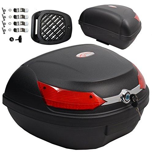 Baúl de moto universal 48 LT A-pro, desenganche rápido, para equipaje en motocicleta, quad y scooter
