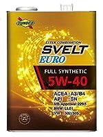 SUNOCO エンジンオイル Svelt EURO 5W-40 4L x4缶  全合成 エステル配合