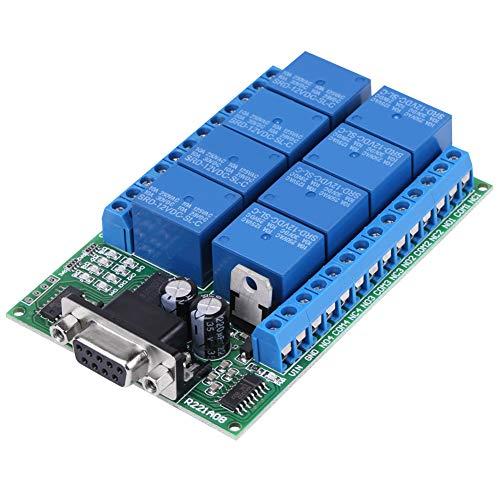 12V 8Ch Relé DB9 RS232 Placa de relé Control remoto Relé de disparo Placa de expansión Interruptor de puerto serie UART para motor de coche
