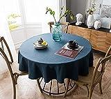 Naturer Gartentischdecke Tischdecke - wetterfest und rutschfest für Garten, Balkon und Camping Rund 130 cm Eisblau