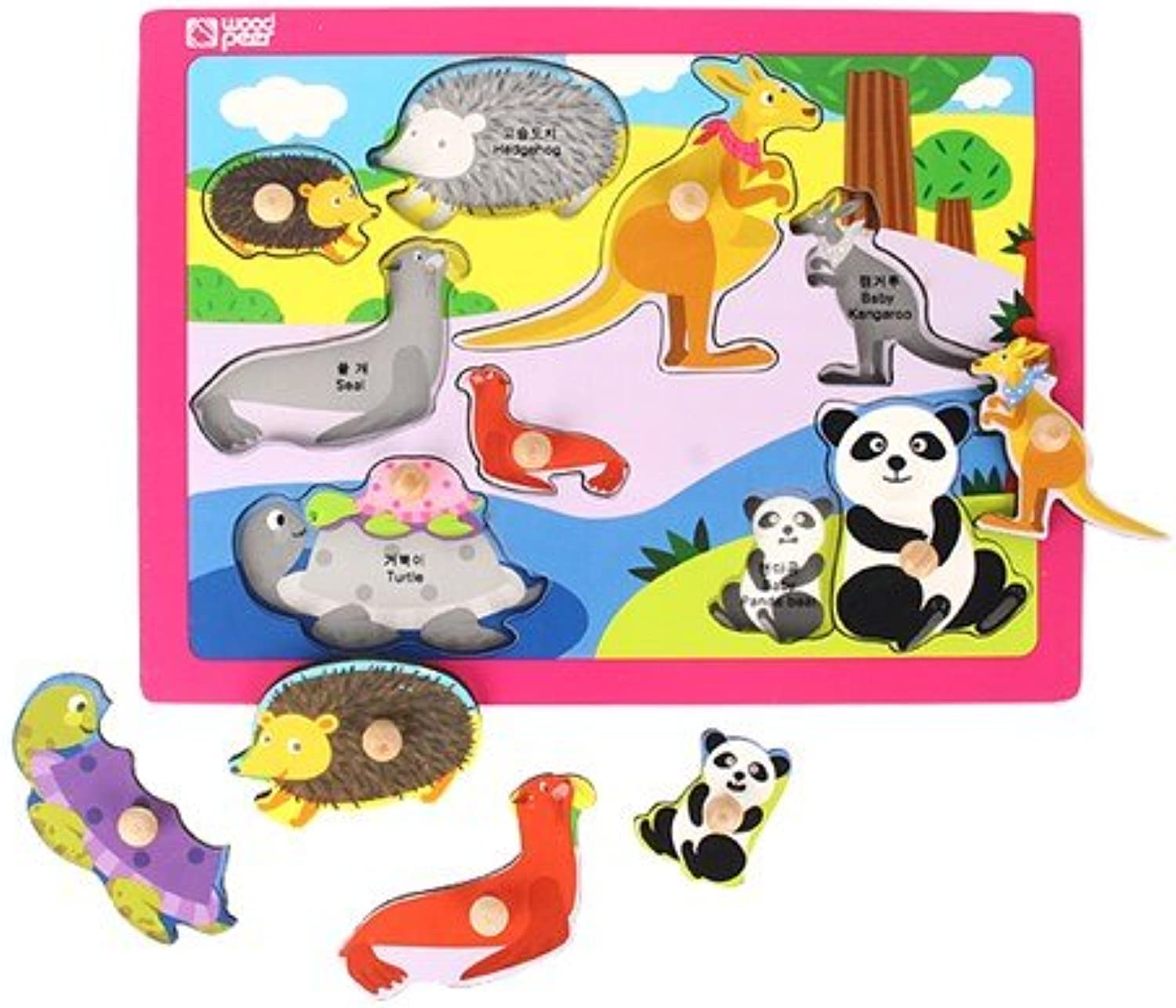 Hand Puzzle  Animal Family