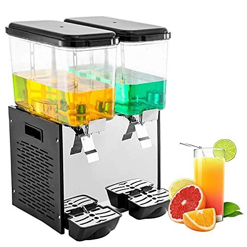 Dispensador de Bebidas comerciales Dispensador de Bebidas de Bebidas frías de Doble Tanque Dispensador de Jugo de Frutas de Acero...