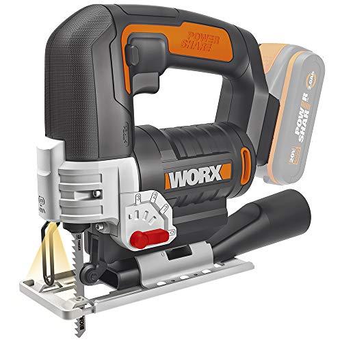 Worx WX543.9 Accu-decoupeerzaag 20V-WX543.9-Exclusieve oplader, zwart, oranje
