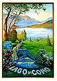 Vintage Lago Di Como, Italien-Reise-Poster, Metallschild,