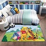 Xuejing Carpet Child Rug Rectangular Living Room Bedroom Study Cartoon Anime Winnie The Pooh Bedside Cloakroom Home Decoration Floor Anti Skid
