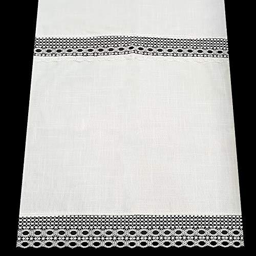 LAGARTERANA Cortina Cocina con PUNTILLA Y ENTREDOS DE GUIPUR (70 x 110 cm.)