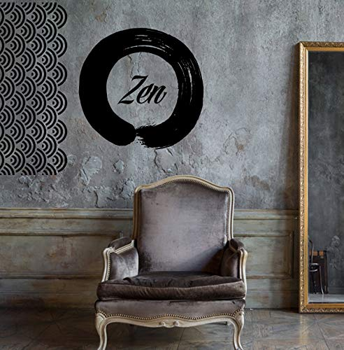 Vinyl sticker Enzo Circle Zen Yoga Meditation unieke muurdecoratie can916