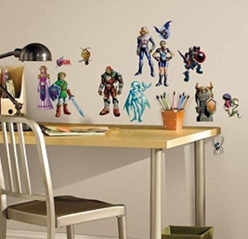 Bavaria Home Style Collection Hochwertiger Wandtattoo Tattoo Wand Tattoo kompatibel mit Zelda - Zelda Ocarina of Time 3D mit außergewöhnlichem Design Macht die Wand zu einen echten Blickfang