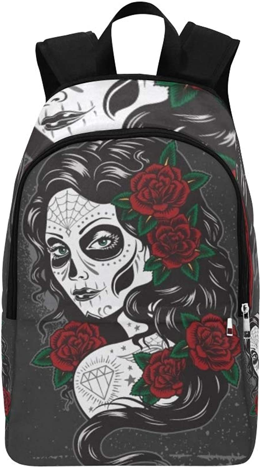 Day Dead Girl Casual Daypack Travel Bag College School Backpack for Mens and Women