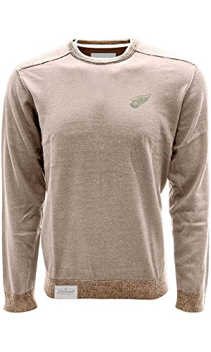 Levelwear LEY9R Baja zweifarbig Tab Pullover, Herren, Baja 2-Tone Tab Pullover, Light Khaki/Java, Medium