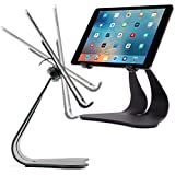 Thought Out Stabile PRO Adjustable Stand Pivoting Black - Made in USA - Compatible with Apple iPad 10.2, 9.7, 12.9, 11, 10.5, Pro, Air and Surface Galaxy Tablets
