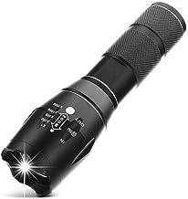 LED zaklamp zoomable, led zaklamp voor waterdichte led zaklamp voor camping-zwart