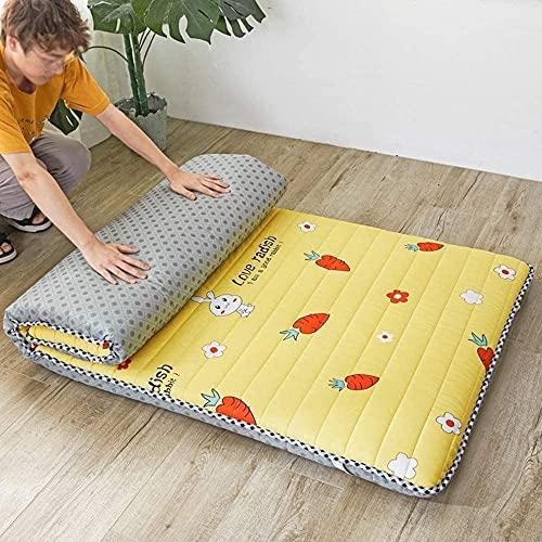 CHAJI Colchón de futón japonés Tradicional, colchón Plegable de Acolchado Colchón de...