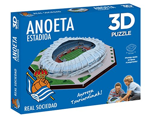 ELEVEN FORCE Puzzle Estadio 3D Anoeta (Real Sociedad) (63485), Multicolor, Ninguna