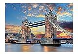 iLink Puzzle 1000 Piezas Adultos,Puente de la Torre Puzzles para Adultos, Puzzle París,70x50CM,Rompecabezas de Piso Juego de Rompecabezas y Juego Familiar