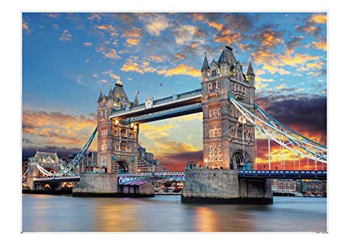 EACHHAHA 1000 Teile Panorama, Erwachsene Puzzle,Brain Teaser Puzzle,70 x 50 cm/27.5x19.7in,Tower Bridge