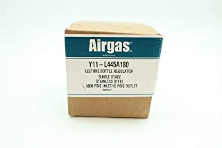 AIRGAS Y11-L445A180 Lecture Bottle Regulator 3000PSIG 15PSIG D642778
