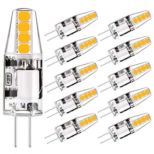 Eco.Luma G4 2W LED Lampen Ersatz für 20W 10W G4 Halogenlampe, Warmweiß 3000K 200lm 12V AC/DC, G4 Led Stiftsockellampe Leuchtmittel Nitch Dimmbar Kein Flicker, 10er-Pack