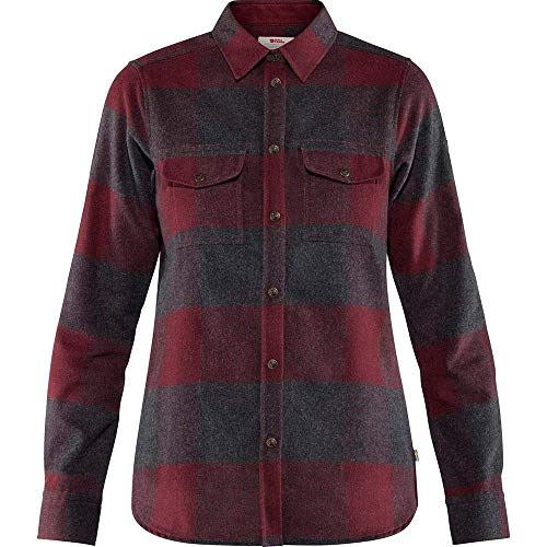 FJALLRAVEN Damen Canada Shirt Ls W Hemd, Dark Garnet, XS