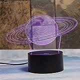 Deerbird® Bagues De Saturne Illusion 3D 7 Couleurs en changeant Toucher Bureau de Table LED Veilleuse Grands cadeaux pour