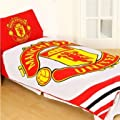 Manchester United Official Licensed Single Duvet Cover Set (Reversible)